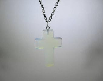 Hazy cross necklace