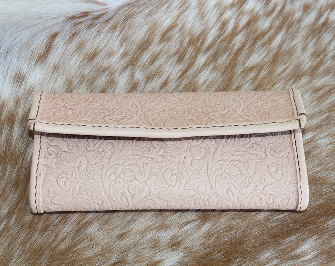 Leather Wallet in a hand tooled leather