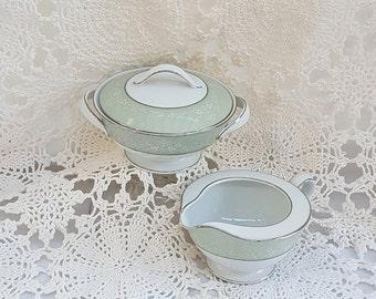 Noritake Creamer Sugar Bowl Maureen