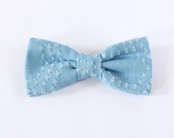 Distressed Chambray Bow Tie // Little Boy Basics // Boys Accessories // Kids Bow Ties // Sunday Best