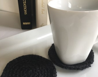 Crochet Coasters in Black