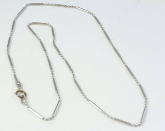 Sterling Silver Chain, 16 inch silver chain, bead chain