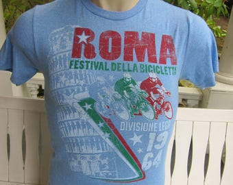 Size S (38) ** Bicycling Racing Shirt Roma / Italy  (Single Sided)