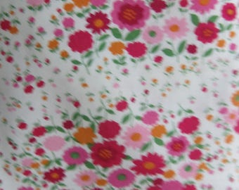 Multicolor red floral fabric
