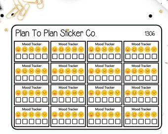 1306~~Mood Tracker Half Box Planner Stickers.
