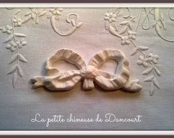 Plaster decorative bow n ° 4
