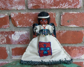 Vintage Native American Leather Purse Doll