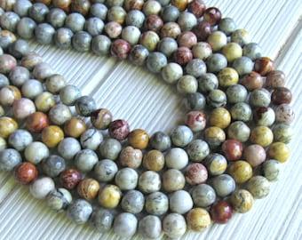 """Sky eye Jasper. 8mm beads, full strand, sky eye beads, multicolor Jasper beads, A quality beads, color beads, 16"""" strand, gemstone bead"""