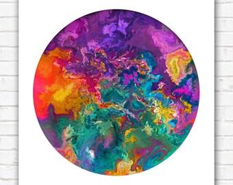 PRINT - Chromatozoa Nebula - Fragmenting - 12x12 Inch Art Print