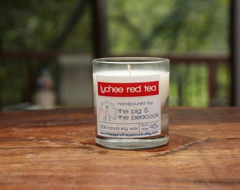 Soy Wax Candle - Lychee Red Tea Pure Soy Wax Candle - 7.5 oz