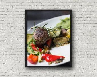 Meatball Print / Digital Download / Fine Art Print/ Wall Art / Home Decor / Color Photograph / Food Photography / Kitchen Print