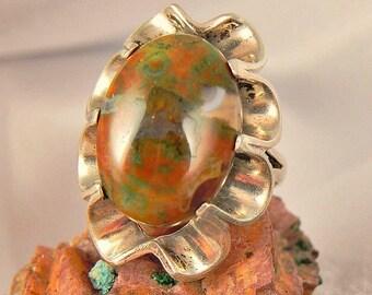 Huge Butterfly Jasper Sterling Ring