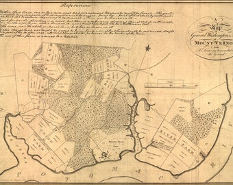 Poster, Many Sizes Available; Map Of George Washington Farm Mount Vernon 1801