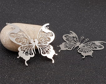 Prints 10 Butterfly 46mm silver plate