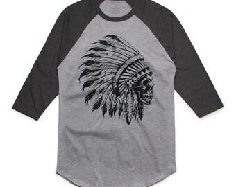 Chief Skull Men's Raglan T-Shirt