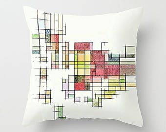 Mid Century Modern, Pillow Cover, Geometric Pillow, Throw Pillow Cover, Cushion Cover, Art Pillow, Geometric Cushion, Modern Pillow Cover