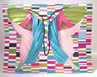Handmade Iris folded butterfly card