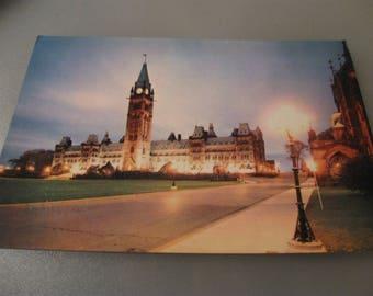 parliament hill ottawa canada post card