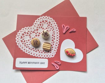 Decoratively Quilled Chocolates Mother's Day Card