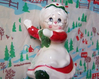 lovely mrs santa lefton shaker