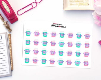 MEDICATION REFILL Paper Planner Stickers!