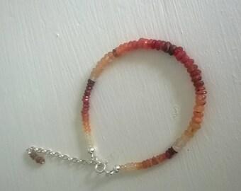 Mexican fire opal bracelet