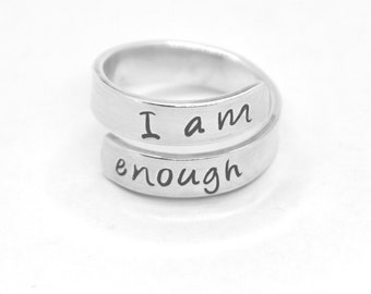 customized 925 sterling silver wrap rings