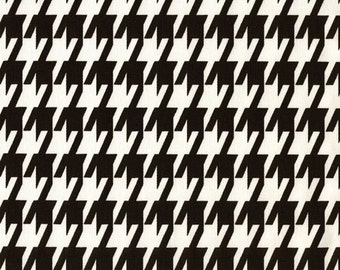 """Large Houndstooth Fabric by the yard Premier Prints Black White Fabric Yardage Home Decor Fabric 54"""" Wide Upholstery Nursery Fabric"""