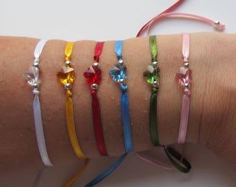 Swarovski Flower Bracelet - Several colors