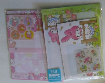Sanrio Melody Stationary Set Envelope Sticker Kawaii Letter Set Cute Great Gift for Her