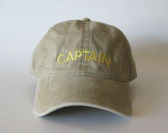 Captain Embroidered Cap captain hat dad cap dad hat captain logo cap