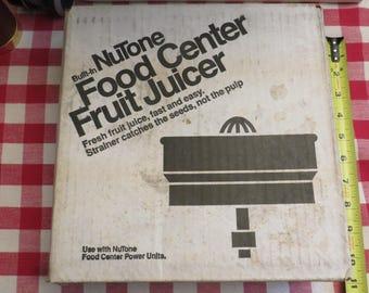 Vintage Nutone 173N  Food Center Fruit Juicer Parts w/ Instructions