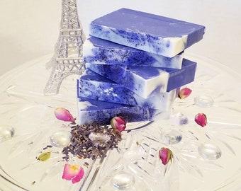 Lavender indigo white natural bar