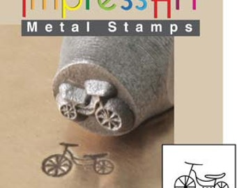 Tricycle 6mm Metal Design Stamp, ImpressArt, Childs Charm Design, Baby Shower Charm, Trike Stamp