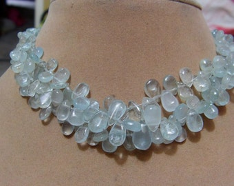 1 Strand  Aquamarine Natural  Plane Layout    beads  7'' 14, grams  Approx