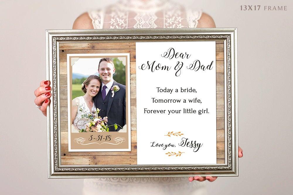 Heute personalisierte eine Braut Morgen A Frau Bilderrahmen