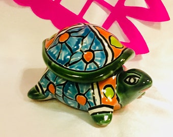 Turtle Talavera Jewelry Box
