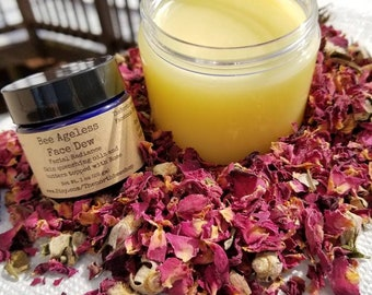 Beeswax face moisturizer / night moisturizer / face lotion / redness remover / natural skincare / honey face cream / face cream / bee balm