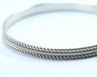 Sterling Silver Bangle Bracelet, Silver Layering Bangle, Silver Stacking Bracelet, Silver Bracelet, Sterling Bangle, Stackable Bangle