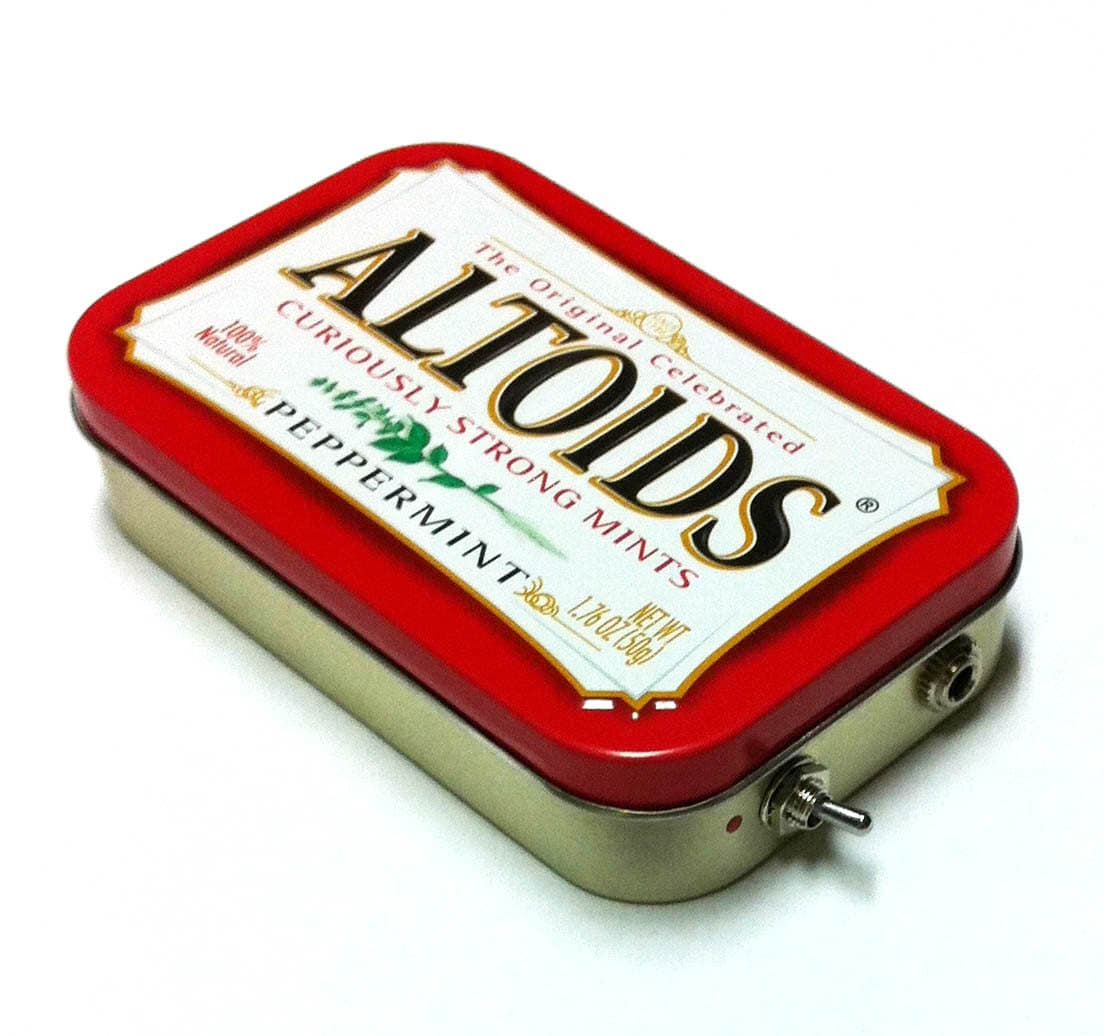 Portable Altoids Amp and Speaker for iPhone MP3 Player -Altoids Red/Red handmade stocking stuffer phone amplifier