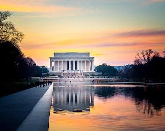 "Washington DC, Art, Lincoln Memorial, Photography, DC Print, Architectural Print, Lincoln Memorial Print, National Mall, Washington - ""16"""