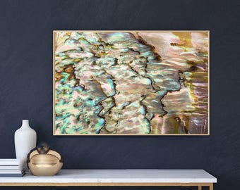 Mineral Photography - (Print #303)  Abalone -  Fine Art Print - Two Paper Choices- Mineral Geode Agate Crystal Decor