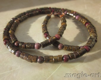 Bronzite and Mookaite Necklace