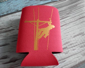 RED COZY with Gold Lineman