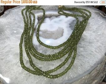 50% Mega Sale 5 Strands Vessonite Vesuvianite Faceted Rondelle Gemstone Beads
