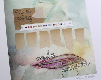 Print Wing and a Prayer Reproduction Original Mixed Media Piece
