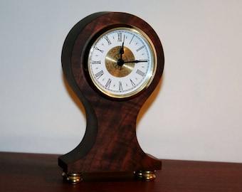 Figured Walnut Mantel Clock