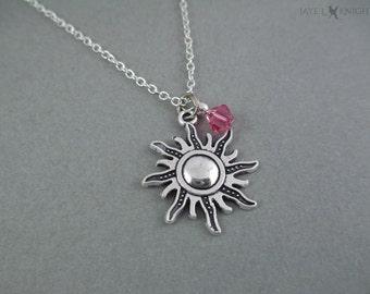 Enchevêtrées Sun Charm Necklace - Raiponce - breloque en argent