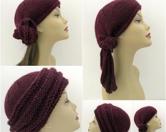 Hat Knitting Pattern, Bohemian Sahara. Head Wrap Many Options, Beanie