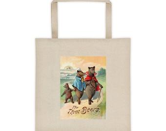 Victorian Nursery Rhyme Three Bears Illustration Tote Bag